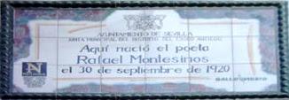 Imagen de Azulejo: Nace Rafael Montesinos