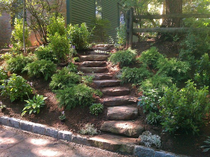 Back Yard Landscaping Ideas with Slope