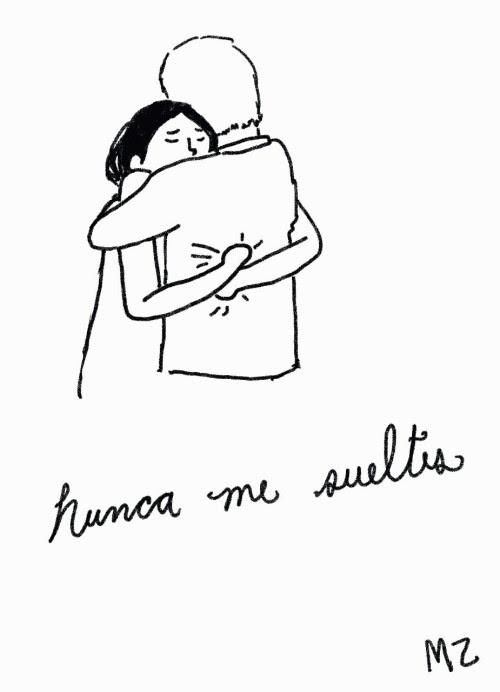 Love Couple Frases Amor Dibujo Pareja Nunca Mz Abrazo Dibujandocositas