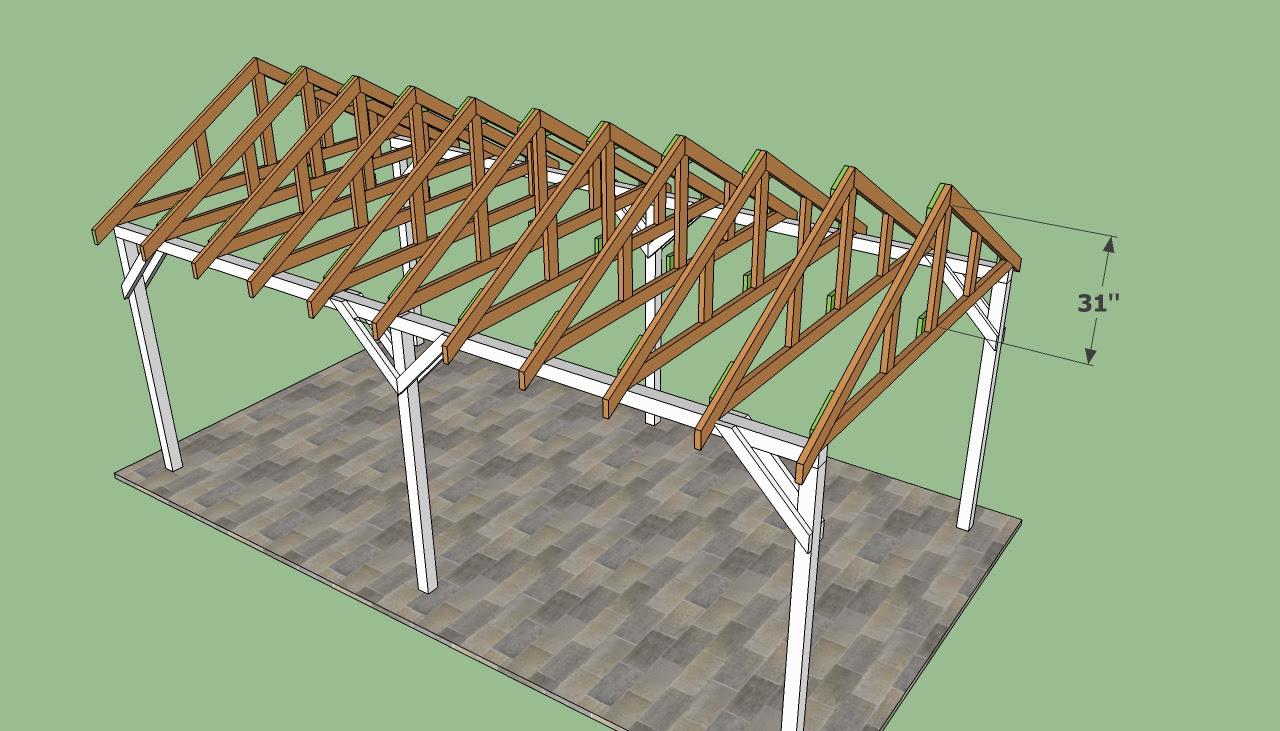 Wooden Gable Carport Plans PDF Woodworking