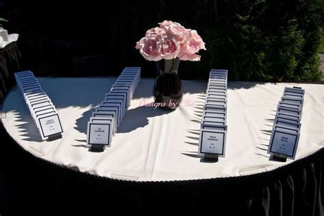 CoCo Chanel White w/Black Font 2x3 Place Cards
