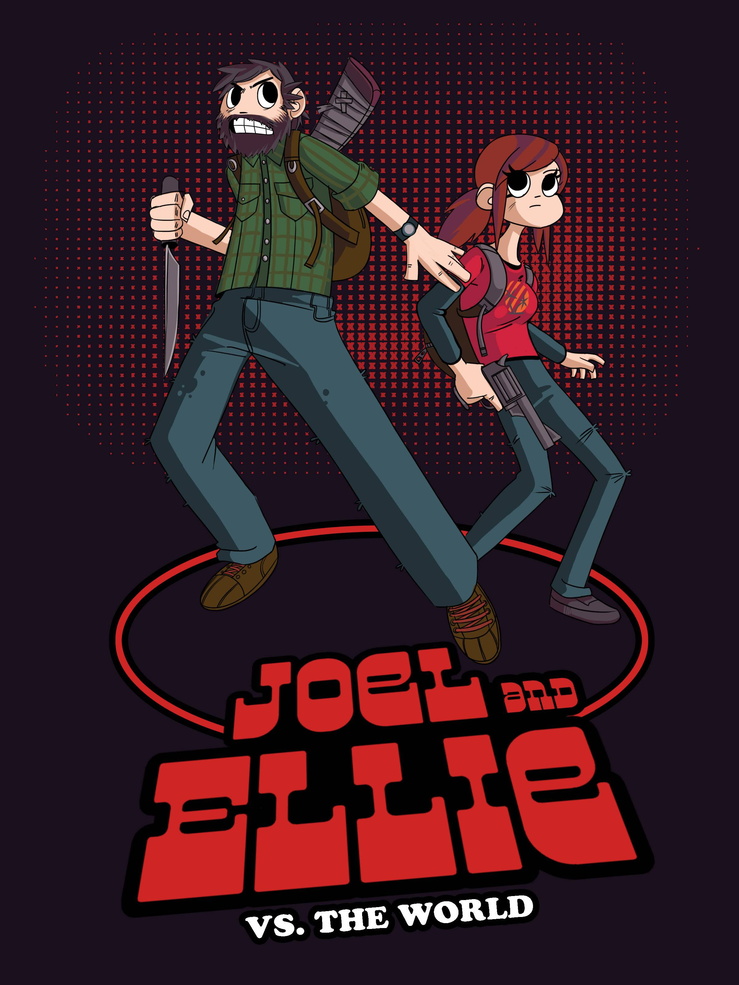 This Last Of Us Scott Pilgrim Mashup Makes An Awesome Wallpaper