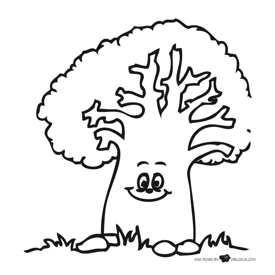 Dibujos De árboles Para Colorear