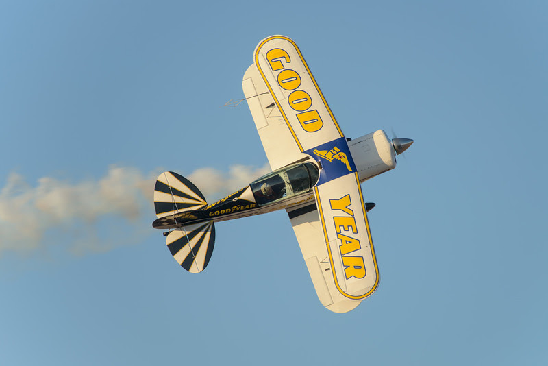 Goodyear Eagles flying the Pitts Special
