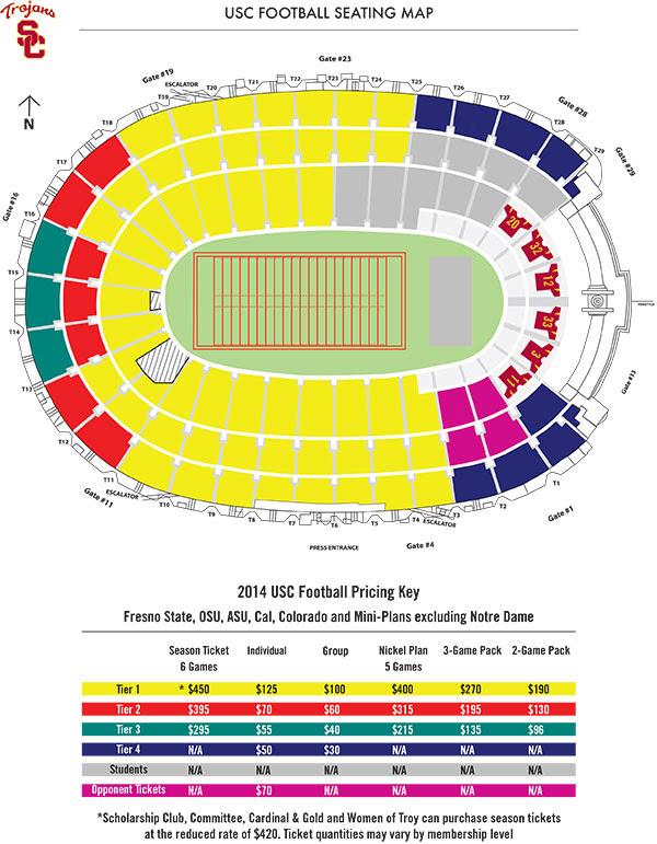 Usc Football Seating Chart