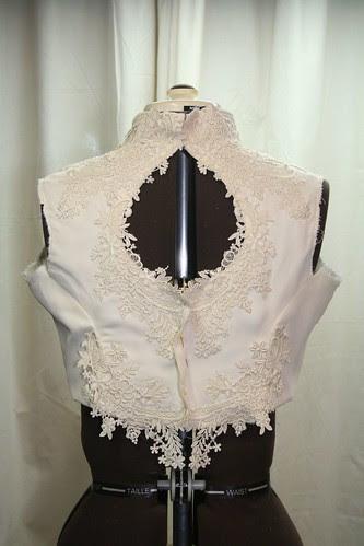 March 2013 vintage wedding gown -original bodice back