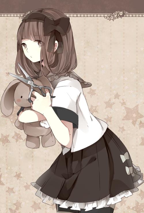 Manga Kawaii Fille Brune