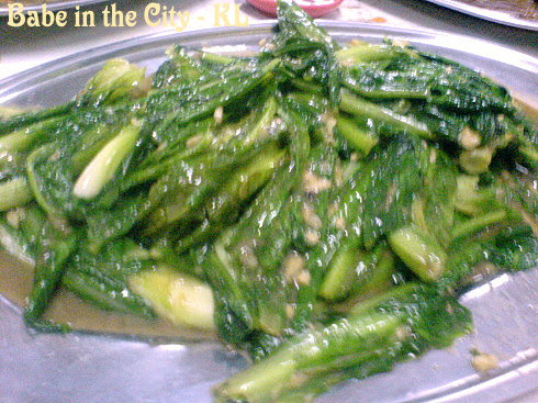 BK - stir fried romaine lettuce with foo yue