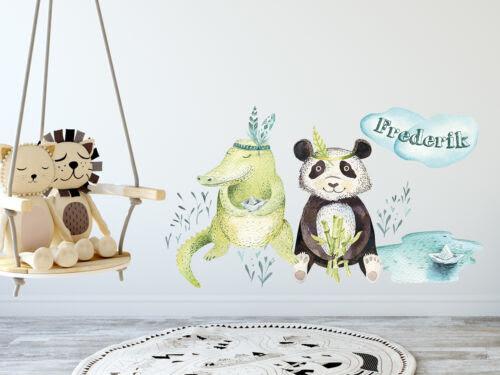 Wandtattoo Kinderzimmer Junge Tiere Mit Namen Babyzimmer Personalisiert Kinder