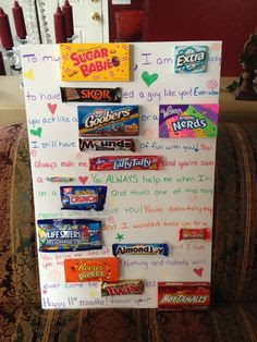 gift ideas, candy gifts, boyfriends gifts, anniversary ideas, funny ...