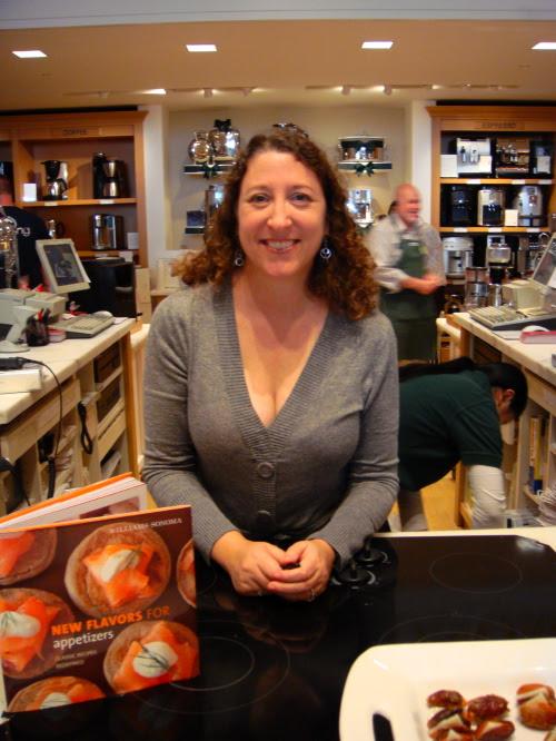 Book signing at Williams Sonoma