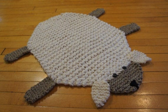 Flat sheep rug/ mat/ blanket