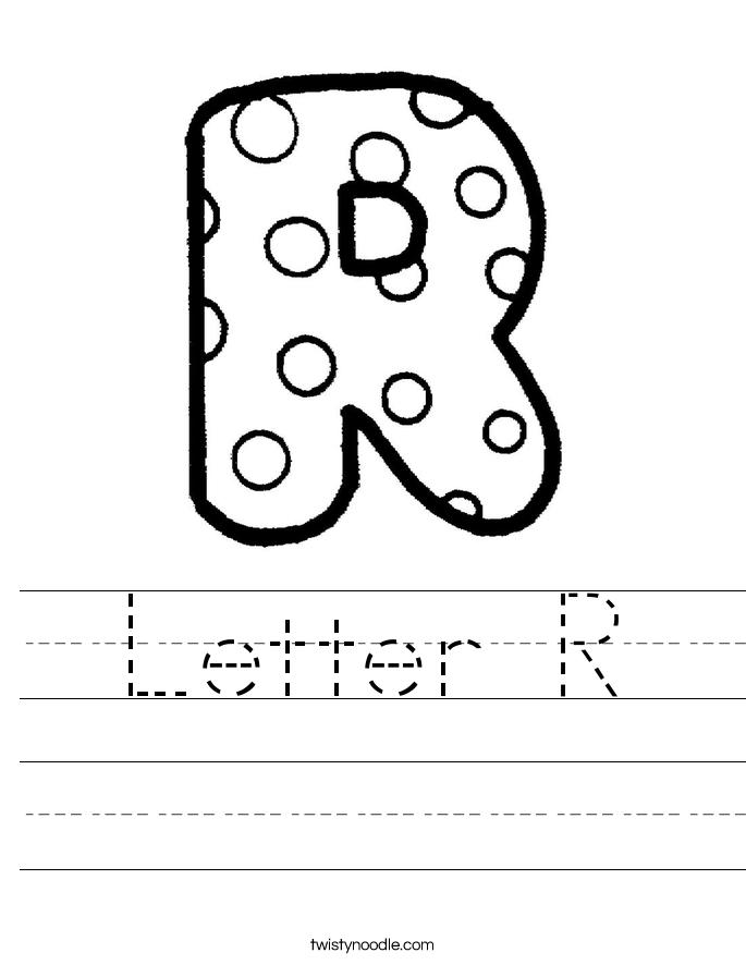 Letter R Worksheet - Twisty Noodle