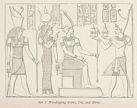 tree of life meaning image of worshipping osiris,iris,horus