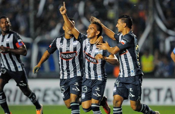 Emelec 2 x 1 Bolívar, Libertadores (Foto: EFE)