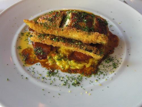 Poulet Noir, chorizo risotto, lemon, garlic, parsley
