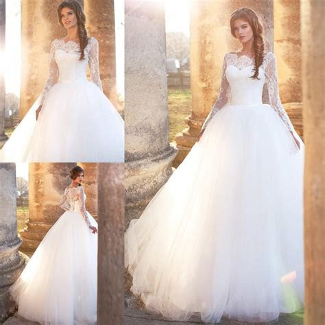 Romantic Puffy Ball Gown Wedding Dresses Lace Appliques