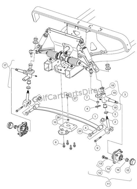 Front Suspension - Lower - Club Car parts & accessories