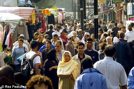Diverse: Areas of London like Whitechapel, pictured, are extremely multicultural