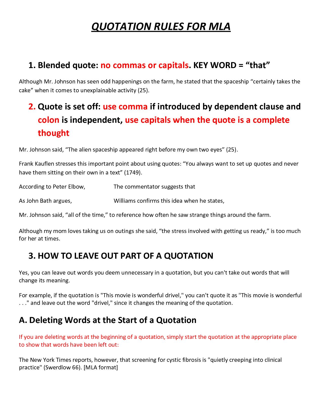 Mla Format Examples Quotes. QuotesGram
