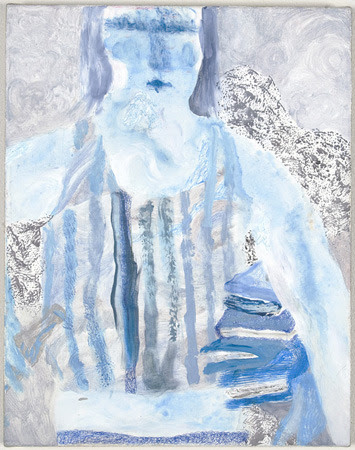 "mrkiki:  Tyson Reeder""Blue Wasteoid"". 2007Acrylic, nail polish, ballpoint pen14 x 11 inches VIA"