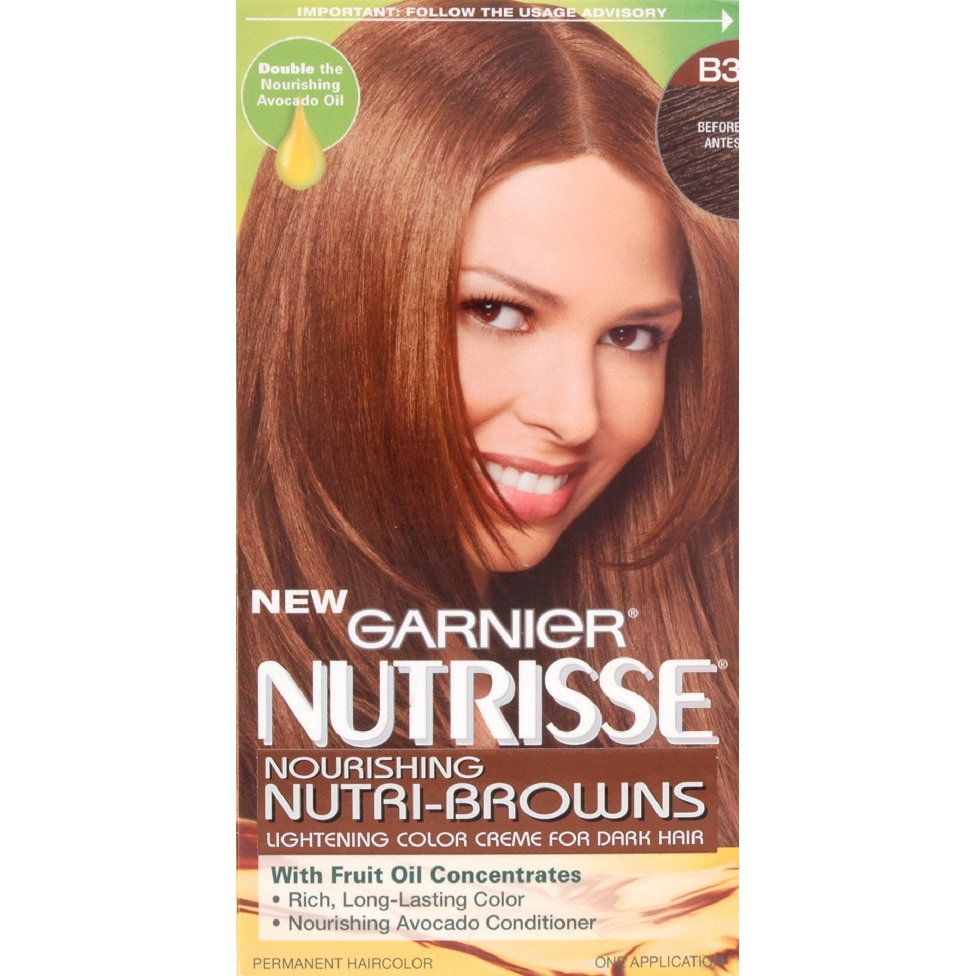 Garnier Nutrisse, NutriBrowns, Permanent Hair Color 1 Kit  Beauty  Hair Care  Hair Coloring