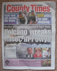 Newspaper front