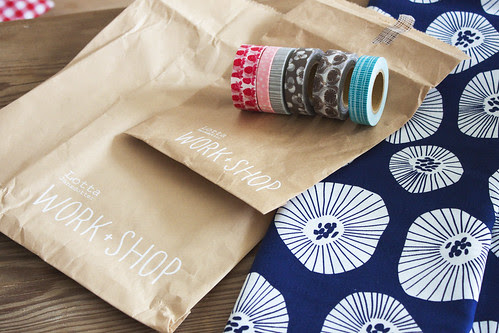 Masking Tape and Textile by WORK + SHOP Lotta Jansdotter