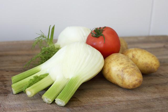 Gemüse, Fenchel, Tomate, Kartoffel
