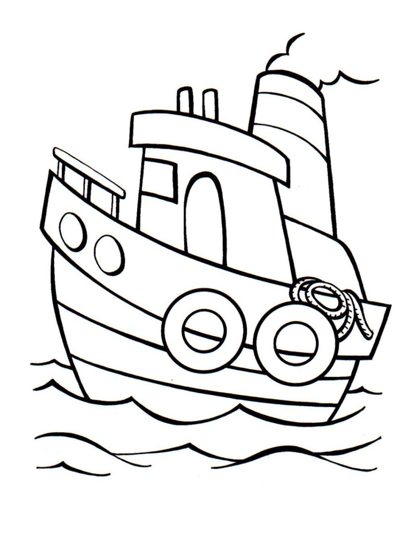 Ausmalbild Schiff kostenlos 2