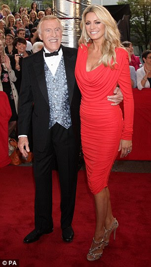 Stars of the show: Hosts Bruce Forsyth and Tess Daly and two of the professional dancers, Erin Boag and Anton Du Beke