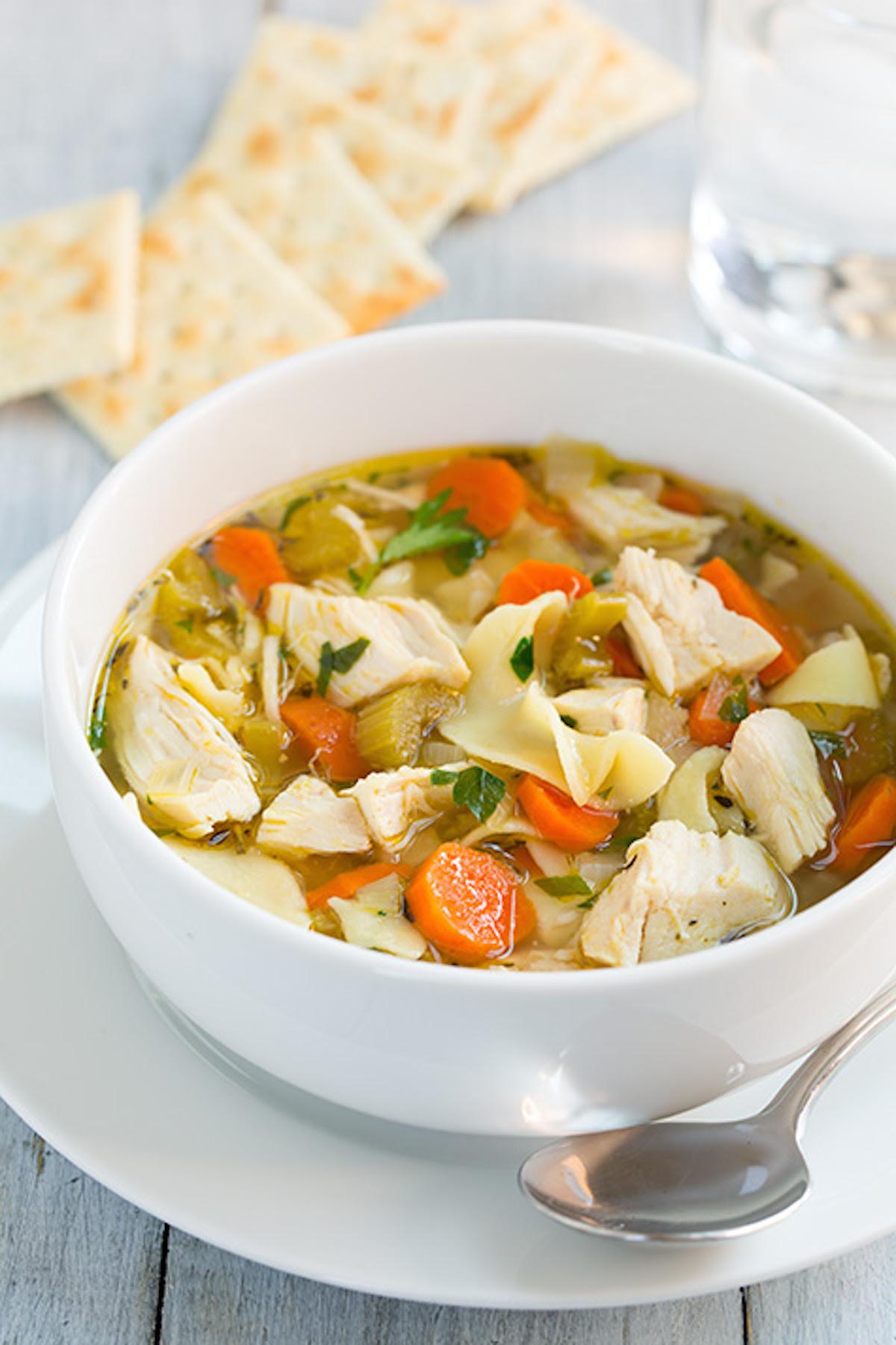 11 Easy Crock Pot Chicken Noodle Soup Recipes - Best Slow ...