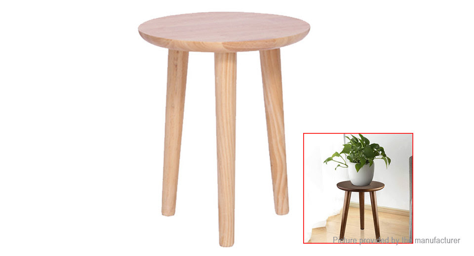 8 89 Yoyeteco Modern Plant Stand Three Leg Stool Indoor Wood Flower Pot Holder Wood Color 29 35cm 50kg Load Bearing At M Fasttech Com Fasttech Mobile