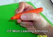 agarrar el lápiz correctamente