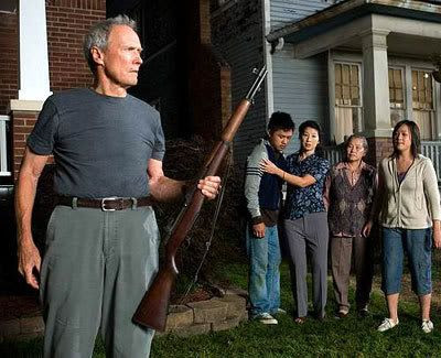 Clint Eastwood plays a Korean War veteran who befriends his Hmong neighbors in GRAN TORINO.