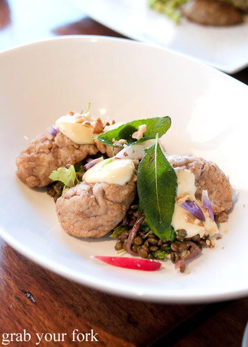 fried dorper lamb brains d'Arrys Verandah Restaurant, McLaren Vale