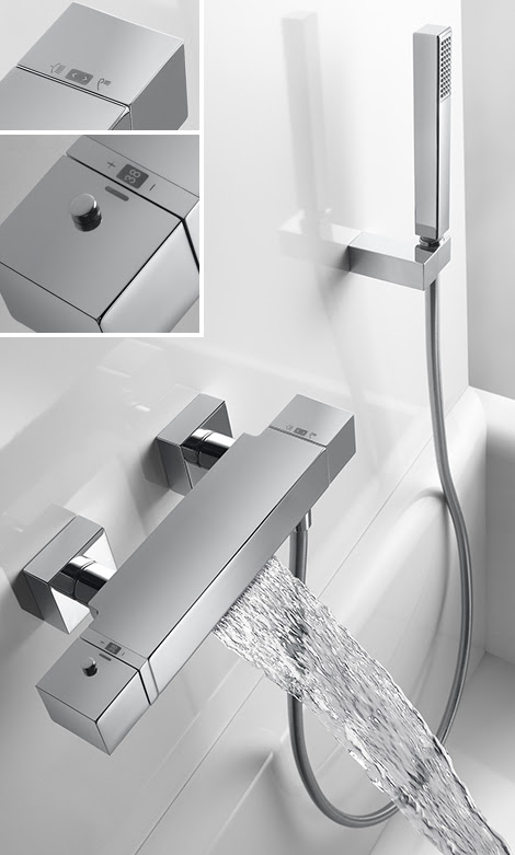 Thermostatic Tub Shower Faucet with Waterfall by Tres