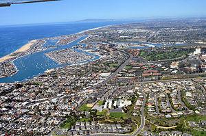 Newport Beach California on a crisp spring mor...