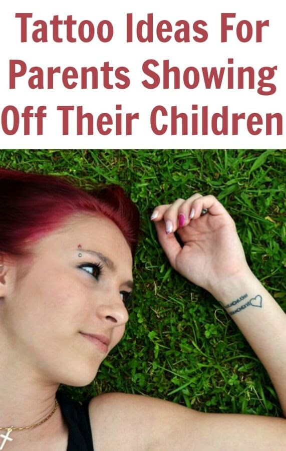 Simple Tattoo Designs For Parents Showing Off Their Children Tots