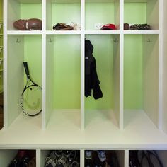 School Bag Storage on Pinterest