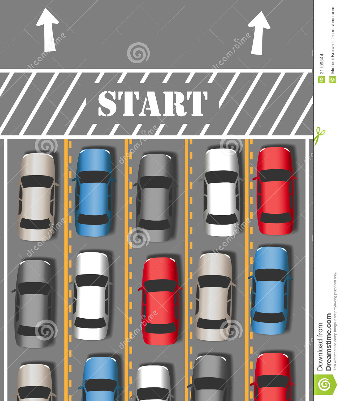 Cars Start Travel Traffic Trip Stock Images - Image: 31109844