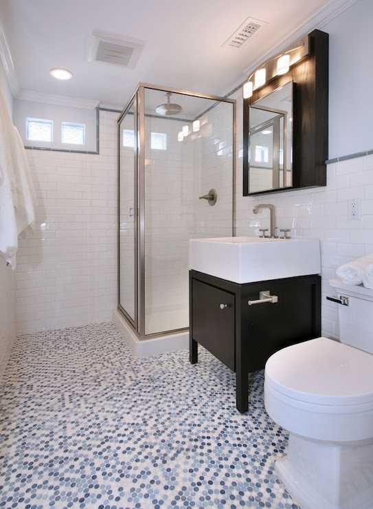 Blue Penny Tiles - Contemporary - bathroom - Natalie Umbert