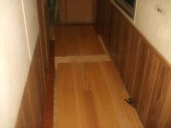 hard wood hallway