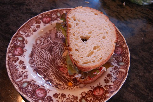 Leftovers Sandwich, like you do.