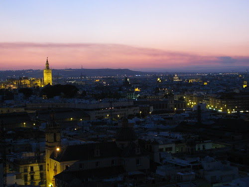Tower of Seville Sunset