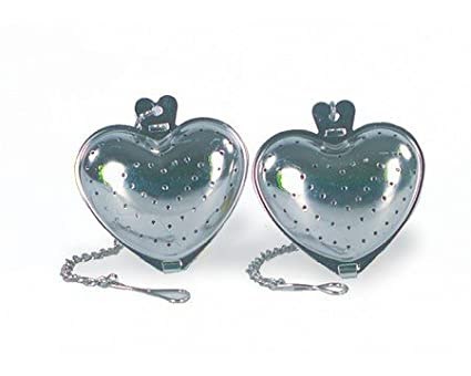 2-Piece Stainless Steel Heart-Shape Tea Infuser | Fox Run