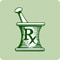 A green icon representing prescription drugs.