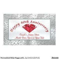 40th Anniversary Gifts PERSONALIZED on Pinterest   40th
