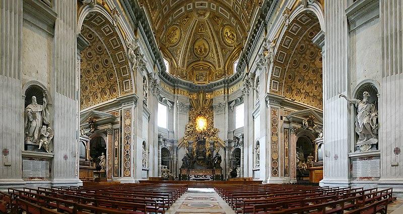 File:Chorraum Altar St Peter Rom.jpg