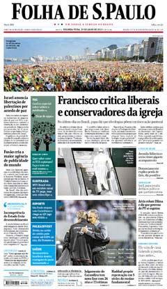 Veja a versão digital da Folha
